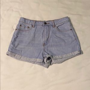 Forever 21 High Waisted Light Wash Jean Shorts